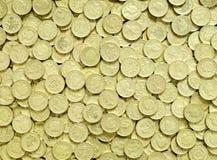 Monedas de libra Imagen de archivo libre de regalías