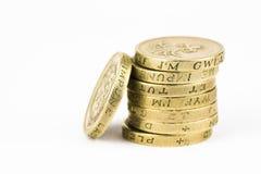 Monedas de libra Foto de archivo libre de regalías