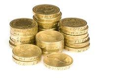 Monedas de libra Fotos de archivo libres de regalías