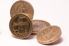 Monedas de libra británica Fotografía de archivo libre de regalías
