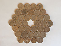 Monedas de libra, Reino Unido Fotografía de archivo