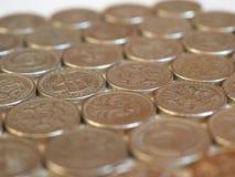 Monedas de libra, Reino Unido Fotografía de archivo libre de regalías