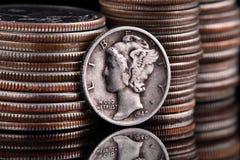 Monedas de los E.E.U.U. imagen de archivo libre de regalías
