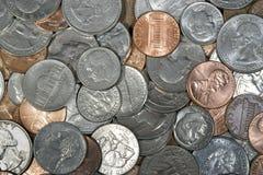 Monedas de los E.E.U.U. Fotografía de archivo