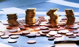 Monedas de los euros Fotos de archivo