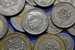 Monedas de Marruecos imagenes de archivo