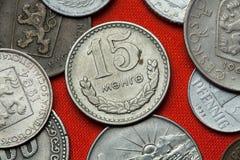 Monedas de Mongolia comunista foto de archivo libre de regalías