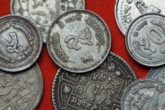 Monedas de Nepal foto de archivo