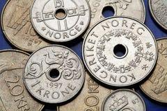 Monedas de Noruega Imagen de archivo libre de regalías