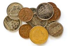 Monedas de Nueva Zelandia Imagenes de archivo