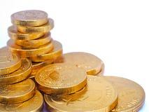 Monedas de oro Imagen de archivo libre de regalías