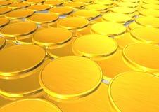 Monedas de oro ilustración del vector