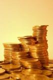 Monedas de oro Fotos de archivo libres de regalías