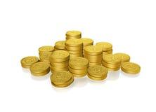 Monedas de oro fotografía de archivo