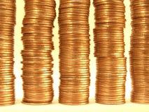 Monedas de oro. Imágenes de archivo libres de regalías