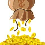 Monedas de oro stock de ilustración