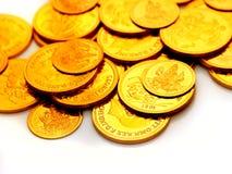 Monedas de oro Foto de archivo libre de regalías