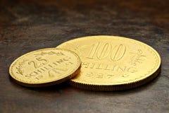 Monedas de oro austríacas Imagenes de archivo