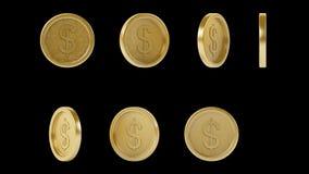 Monedas de oro brillantes de alta resolución del metal fijadas libre illustration