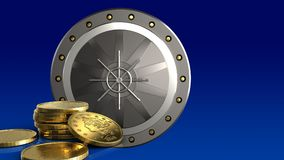 monedas de oro 3d Fotos de archivo