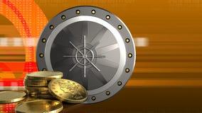 monedas de oro 3d Imagen de archivo