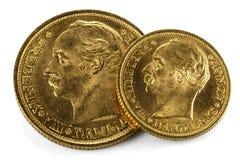 Monedas de oro danesas fotos de archivo libres de regalías