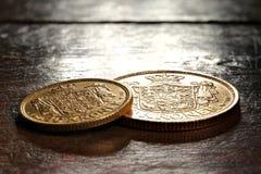 Monedas de oro danesas imagenes de archivo