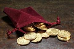 Monedas de oro de Vreneli del suizo fotos de archivo