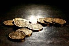 Monedas de oro de Vreneli del suizo imágenes de archivo libres de regalías