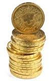 Monedas de oro de Vreneli del suizo fotografía de archivo libre de regalías