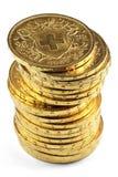 Monedas de oro de Vreneli del suizo imagen de archivo