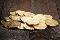 Monedas de oro suizas 06 Imagenes de archivo
