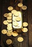 Monedas de oro suizas Imagen de archivo