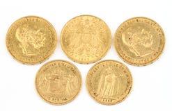 Monedas de oro viejo Fotos de archivo