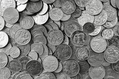 Monedas de plata australianas imagenes de archivo