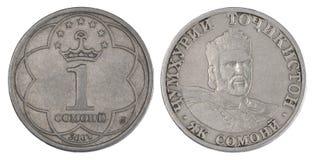 Monedas de Somoni fotografía de archivo