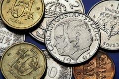 Monedas de Suecia Imagenes de archivo