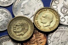 Monedas de Suecia Fotos de archivo