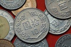 Monedas de Taiwán Fotografía de archivo libre de regalías