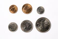 Monedas de Trinidad and Tobago imágenes de archivo libres de regalías