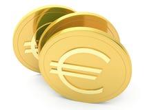 Monedas de un euro Imágenes de archivo libres de regalías