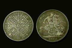 Monedas de Victoria fotos de archivo libres de regalías