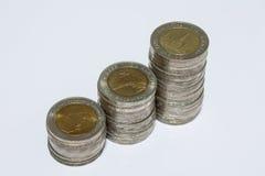 10 monedas del baht Fotos de archivo libres de regalías
