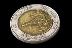 Monedas del baht de Tailandia Fotos de archivo