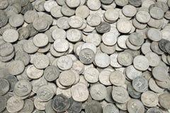 25 monedas del centavo de los E.E.U.U. Imagen de archivo libre de regalías