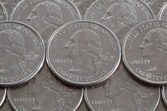 Monedas del dólar de EE. UU. Fotografía de archivo libre de regalías