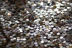 Monedas del dinero Fotografía de archivo
