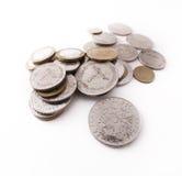 Monedas del dinero del dirham de los UAE Foto de archivo libre de regalías