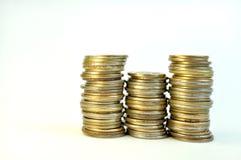 Monedas del dinero del tiempo fotografía de archivo
