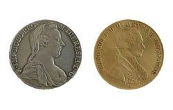 Monedas del imperio de Atique Austria Fotos de archivo libres de regalías